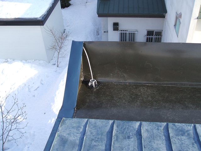 落雪防止タイプ屋根融雪