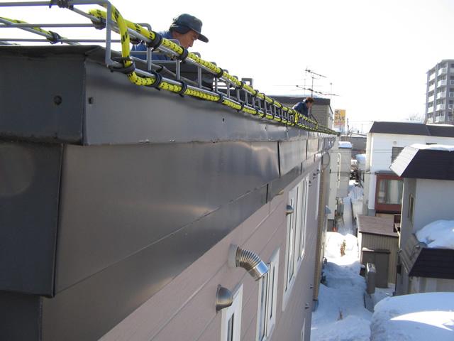 ヒーター露出タイプ屋根融雪
