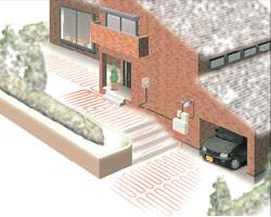 電気融雪システムイメージ図