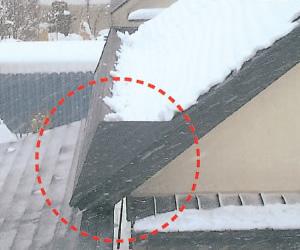 落雪防止屋根融雪イメージ